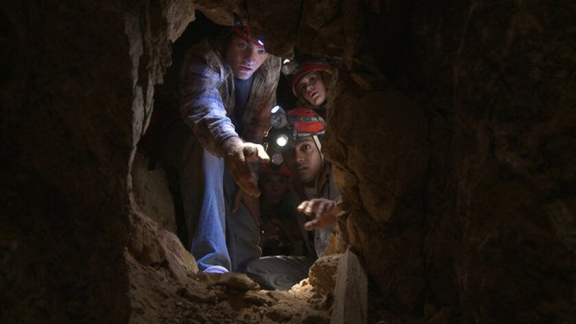 """A scene from the film """"Abandoned Mine."""""""