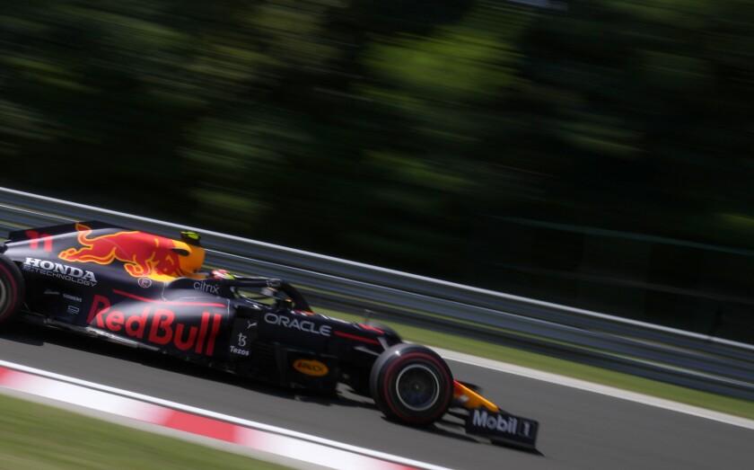 Red Bull driver Sergio Perez of Mexico