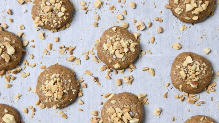 These flourless cookies bake up crisp around the edges and chewy on the inside.
