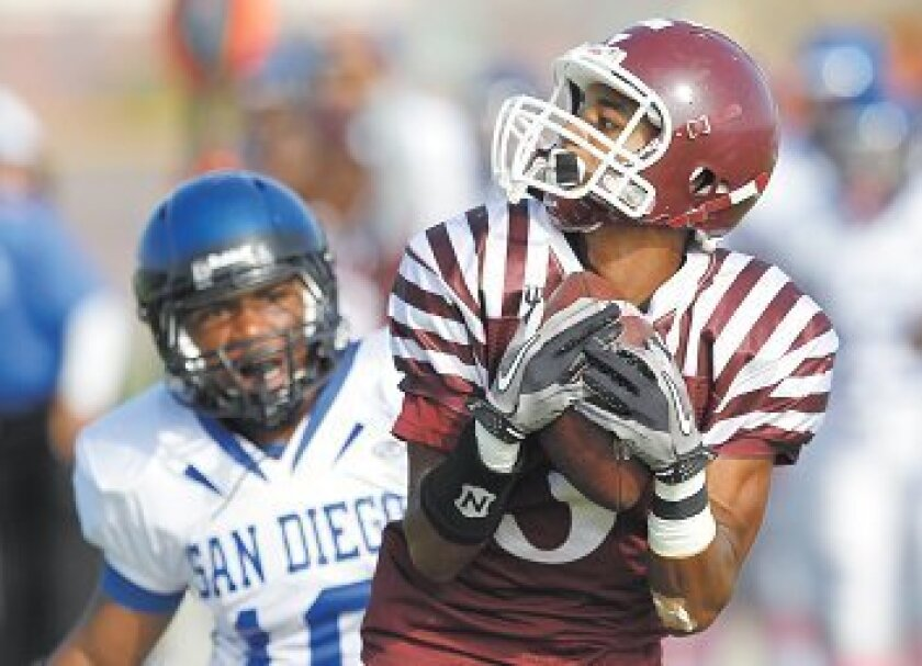 Charles Tucker dons Kearny High's stripes in October.