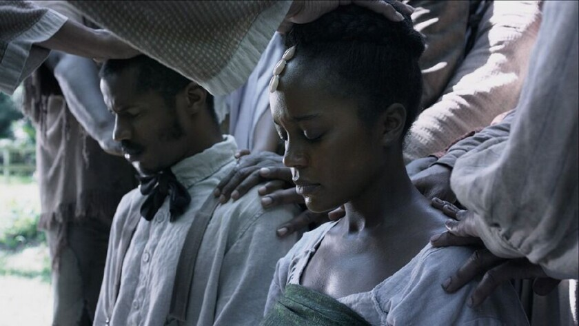 "Nate Parker and Aja Naomi King in ""The Birth of a Nation"""