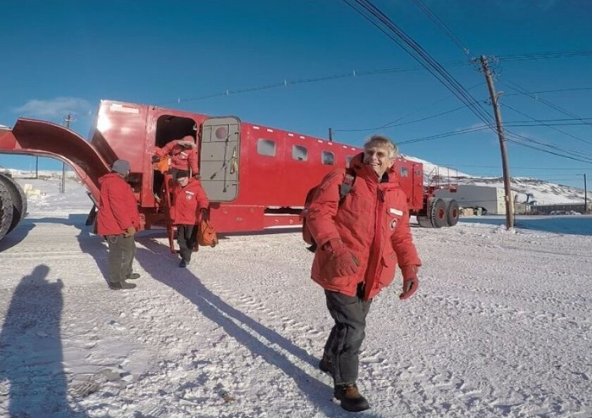 Scripps researcher Peter Gerstoft last week in Antarctica.