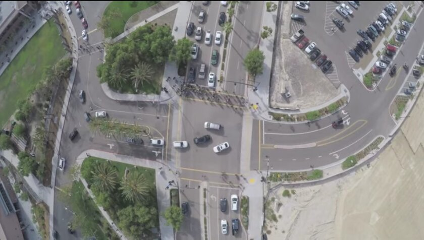 The traffic issue at Canton Crest Academy, as seen from drone footage. Courtesy photos