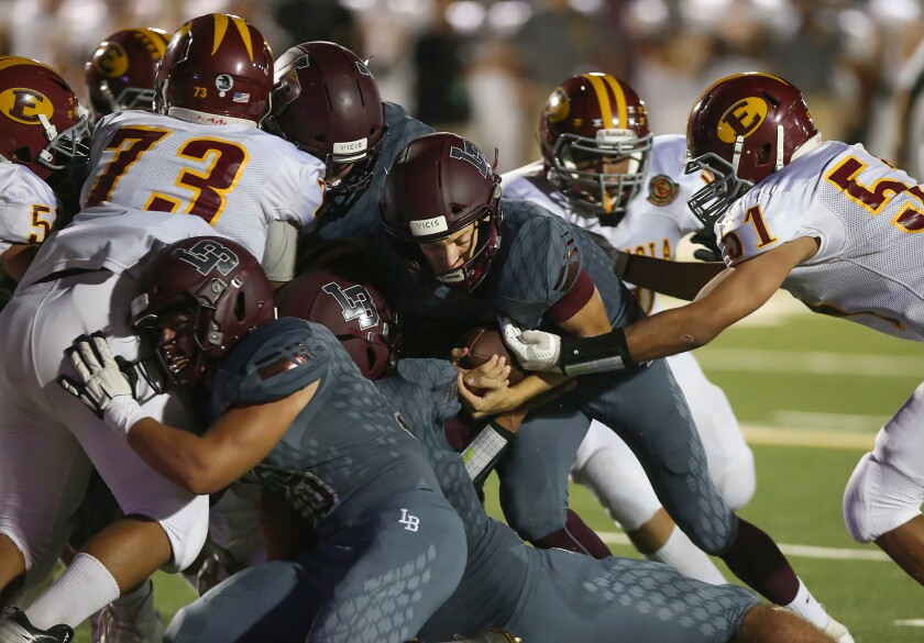 High School Roundup: Laguna Beach football dominates Godinez in Pac 4 League opener