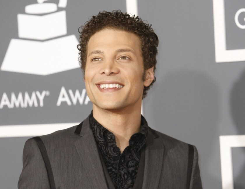 Justin Guarini attends the 2011 Grammy Awards in Los Angeles.