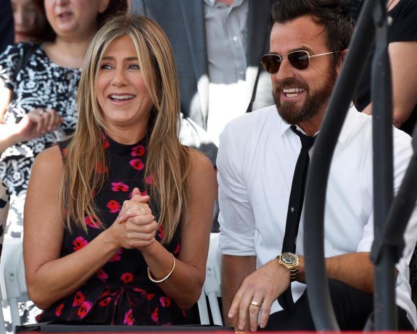 Jennifer Aniston y Justin Theroux se han separado tras dos años y medio de matrimonio y siete de relación, según anunciaron hoy a través de un comunicado. EFE/ARCHIVO