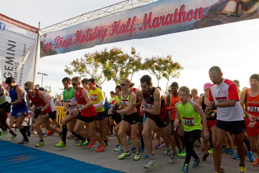A photo of San Diego Holiday Half Marathon