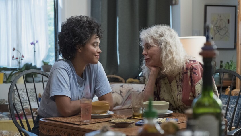 "(L-R) - Kiersey Clemons and Blythe Danner in a scene from ""Hearts Beat Loud."" Credit: Jon Pack/Gunpo"