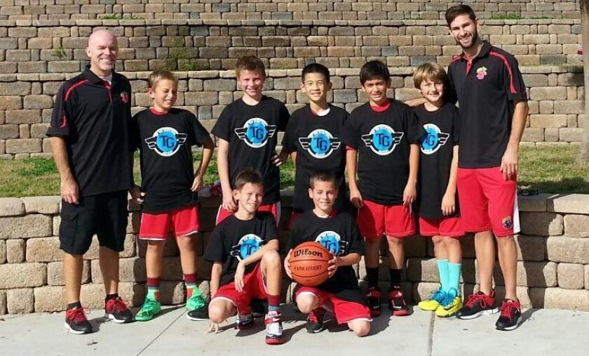 Congratulations to Coaches Drew Schrieber and Curtis Hofmeister and the Solana Beach Cats Boys fourth-grade White basketball team who were finalists in the Fall Top Gun basketball league.