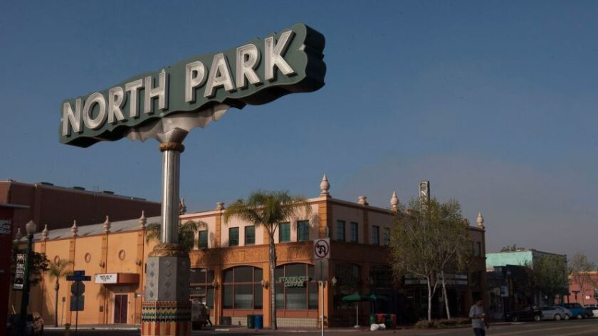 The North Park sign on University Avenue