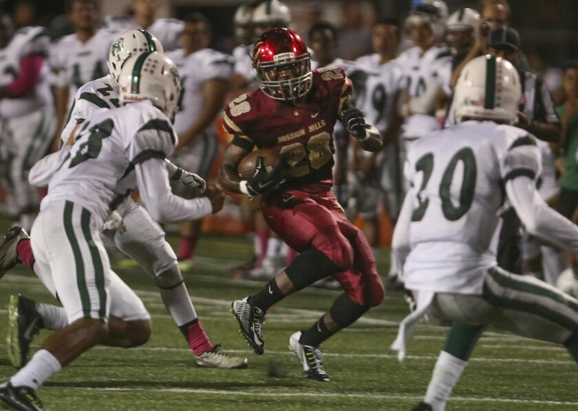 With Nehemiah McFarlin running the ball, Mission Hills remained undefeated.