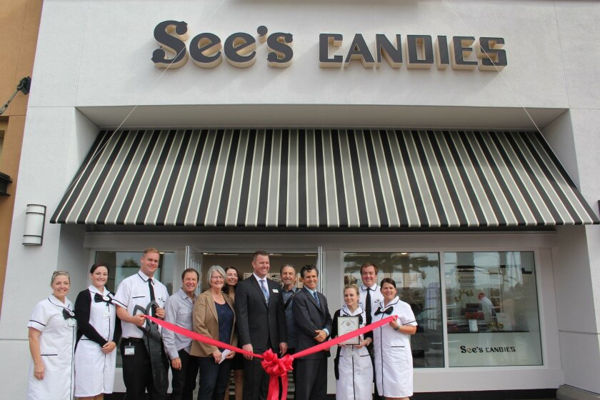 The new See's Candies in Flower Hill Promenade celebrated a ribbon cutting on Aug. 11.