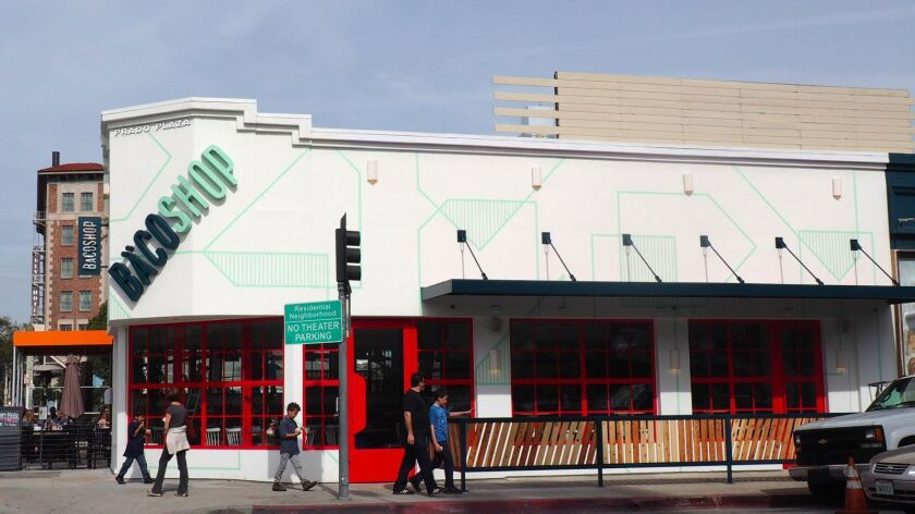 The exterior of Bäcoshop, the new Culver City restaurant by Josef Centeno.