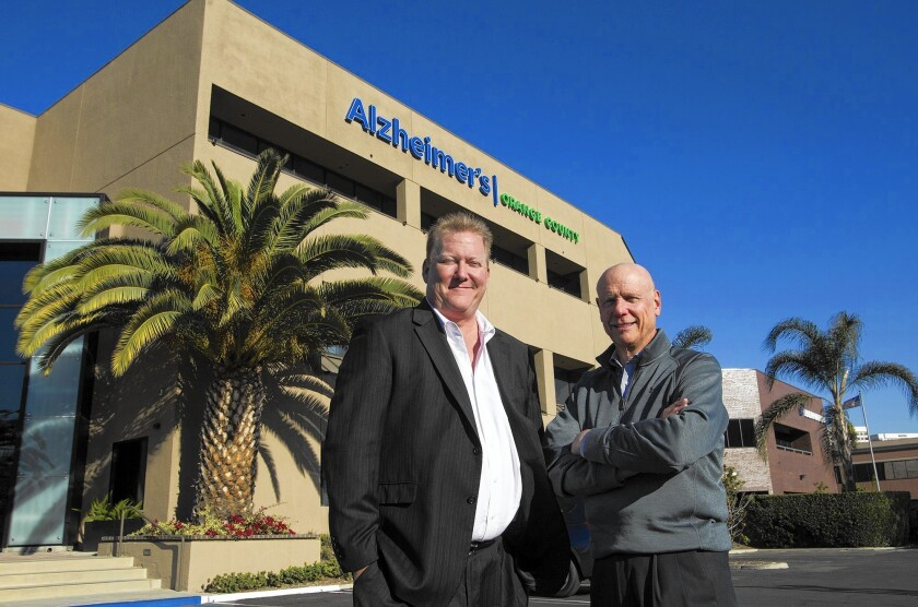 Alzheimer's Orange County CEO Jim McAleer, left, and chairman of the board Mike Lancaster.