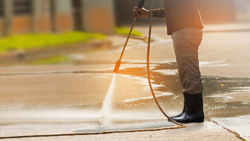 The La Jolla Maintenance Assessment District initiated a weekly daytime sidewalk power-washing operation on April 30 in some areas of The Village.