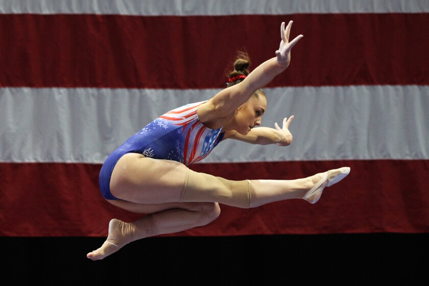 "Gymnast Maggie Nichols in the documentary ""Athlete A."""