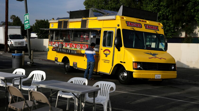 Taco trucks are like palm trees in Los Angeles. Part of the landscape, and not hard to find.
