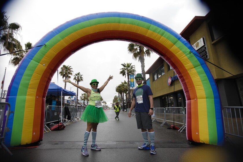 Leprechaun Run Registration starts at 7:30 a.m. Saturday, March 14, events move down Garnet Avenue. 5K begins 9 a.m. Kids 1K begins 10:15 a.m. Participants receive a drink ticket for Mavericks Beach Club, 860 Garnet Ave. for post-race celebration. Cost: $25-$40. sandiegorunningco.com