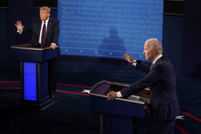 Trump Biden Debate Analysis Round By Round Los Angeles Times