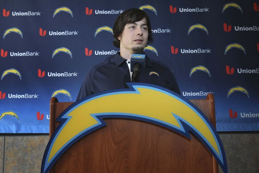 At Chargers Park the teams newest running back, Danny Woodhead was introduced to the media.