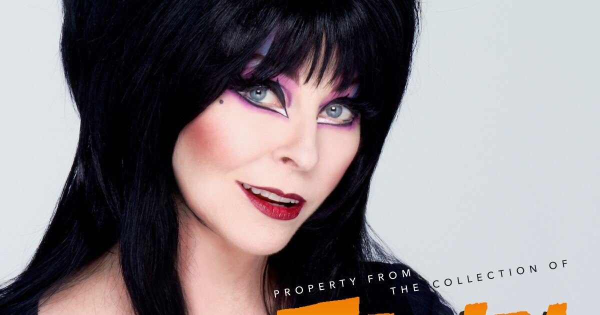 Just in time for (next) Halloween, you can own part of Elvira's spooky legacy