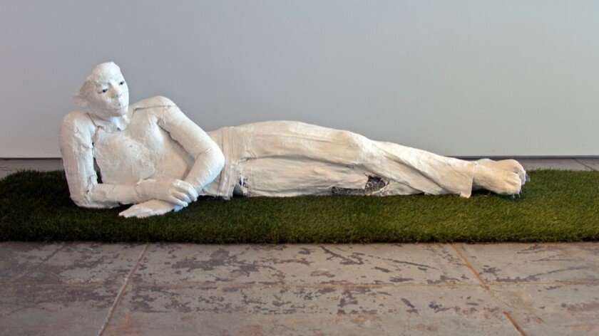 """The sculpture """"Mikail"""" is based on the late Noah Davis' last painting."""