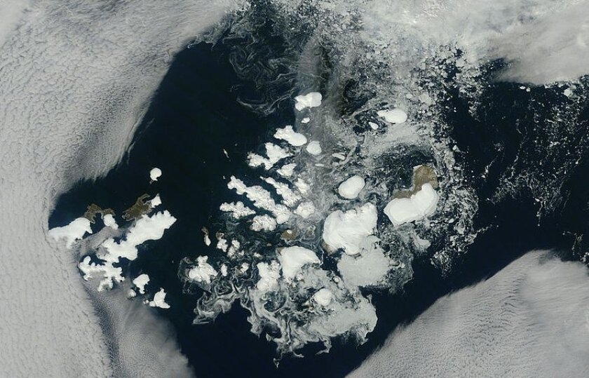 NASA's Terra satellite captured this image of Franz Josef Land in August 2011.
