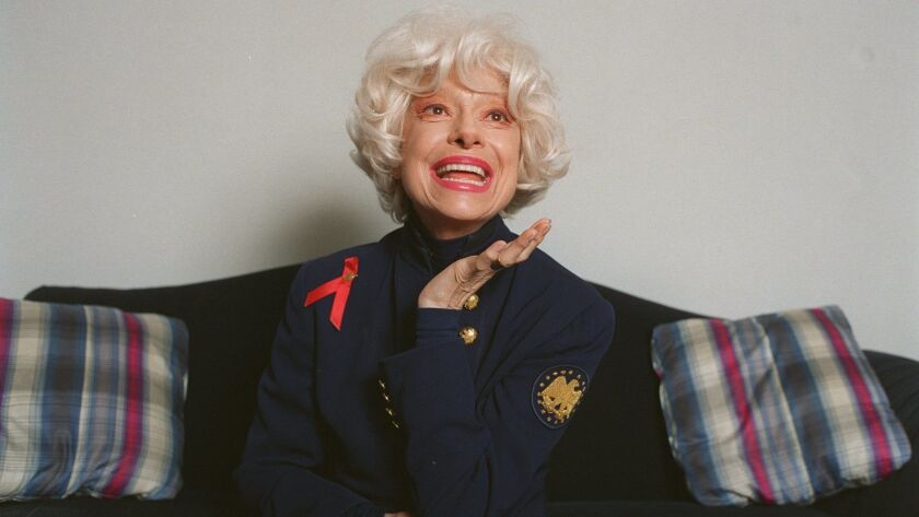 CA.Channing.@@#2.GF Actress Carol Channing, who is appearing in Hello DOlly––in her hotel suite in S