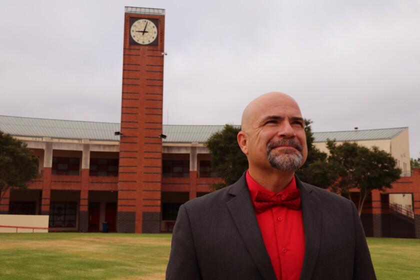 Fallbrook High School Principal Dr. Narciso Iglesias. The high school is now an  International Baccalaureate World School.