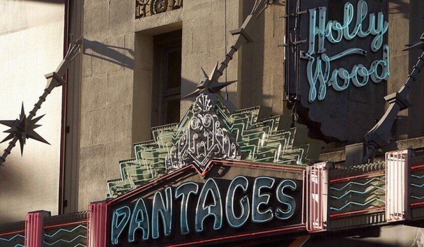 The Pantages Theatre, an Art Deco classic built in 1929, hosted Academy Award shows during the 1950s.