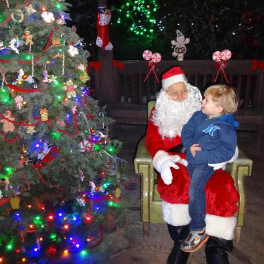 The Botanic Wonderland Holiday Nights in the Garden will include nightly visits with Santa.