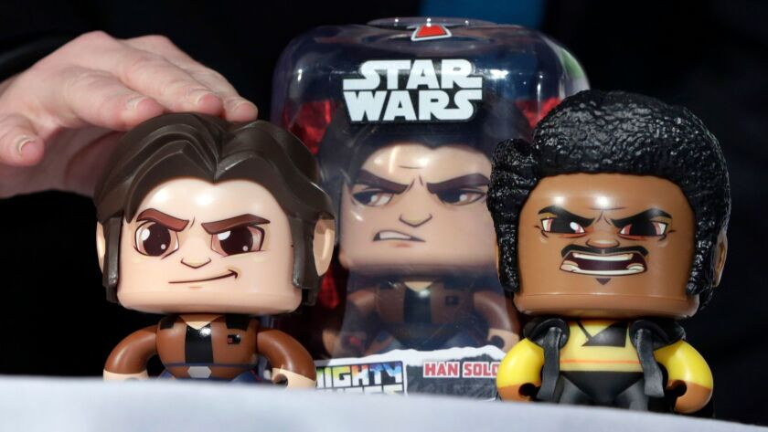 Hasbro — whose products include Star Wars Mighty Muggs, above — posted third-quarter results that fell short of expectations.