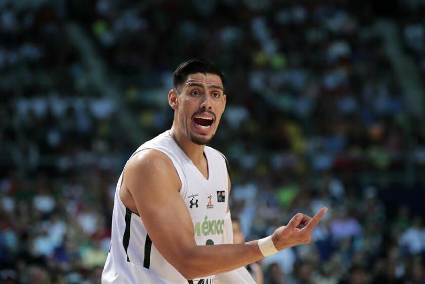 Gustavo Ayón, jugador de la selección de baloncesto de México. EFE/Archivo