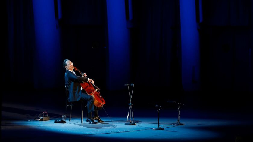 The Bowl concert Tuesday had the largest audience ever for a Ma performance of the Bach cello suites