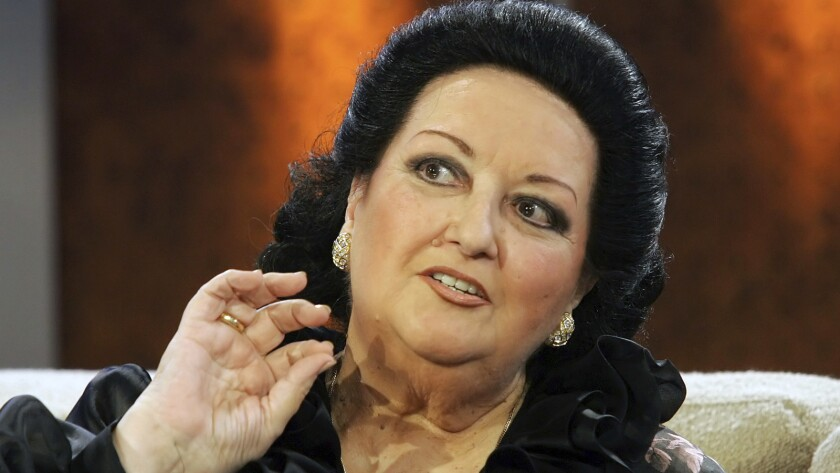 """Montserrat Caballe on the TV show """"Bet it...?"""" in Dresden, Germany, in October 2005."""