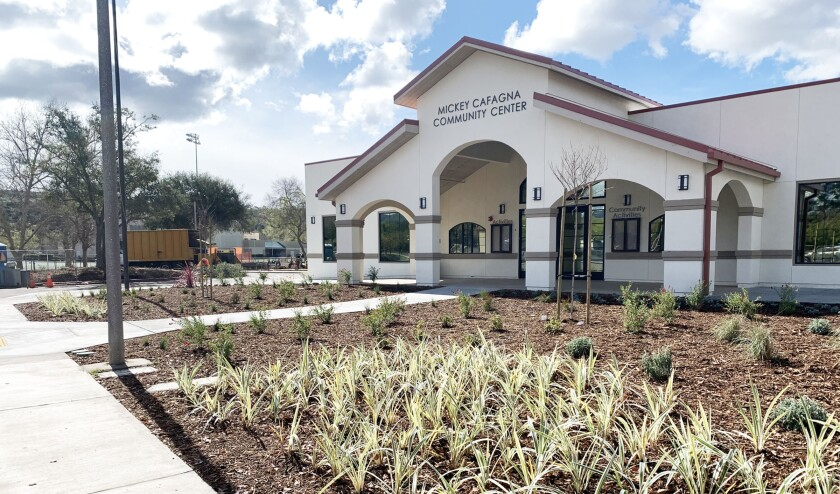 The new Mickey Cafagna Community Center is expected to open in late May.