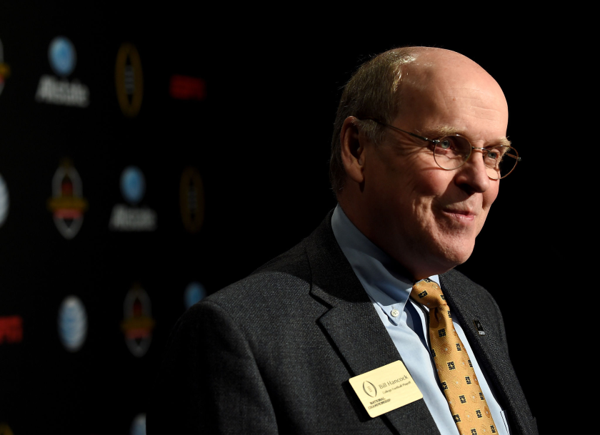 CFP executive director Bill Hancock attends the ESPN College Football Playoffs Night of Champions in January 2015 in Dallas.