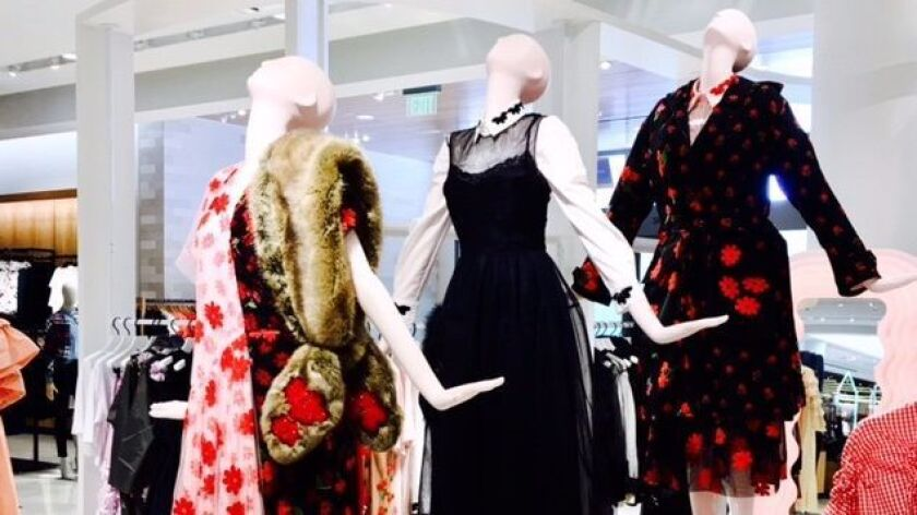 Even the mannequins take on an avant-garde stance in the new Nordstrom opening Thursday at Westfield