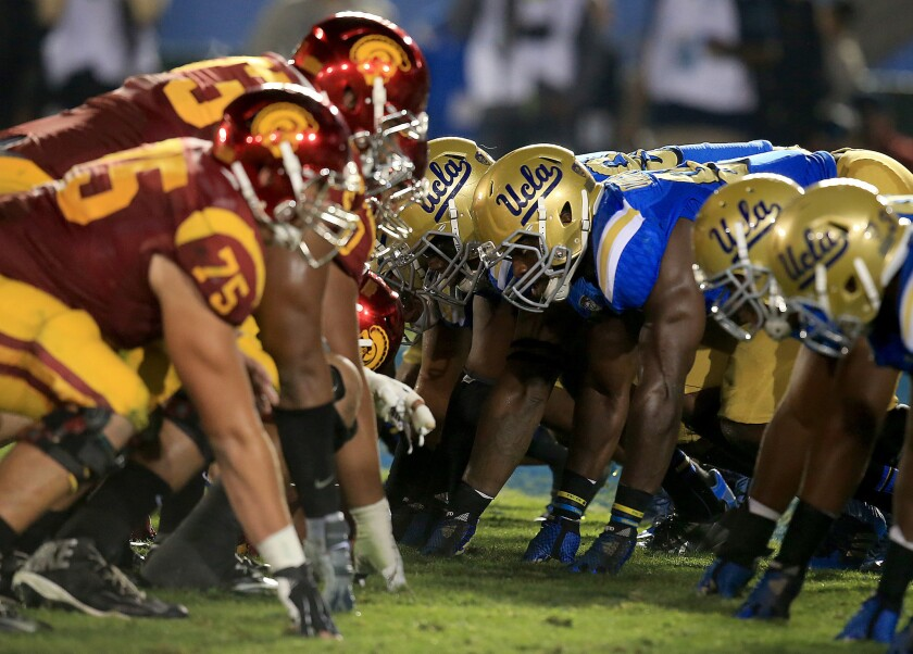 The annual USC-UCLA game will be this Saturday.