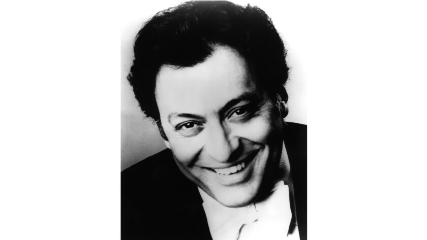 A portrait of conductor Zubin Mehta.