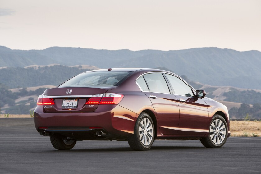 The Honda Accord was the bestselling vehicle in California during the first quarter of 2014.