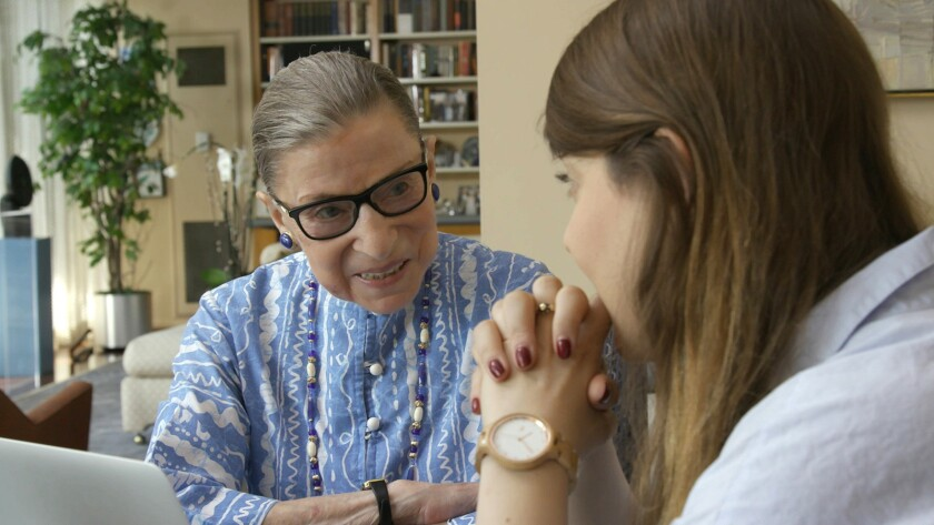 """********ONE TIME USE ONLY********Ruth Bader Ginsburg in a scene from the documentary film """"RBG."""" Cre"""