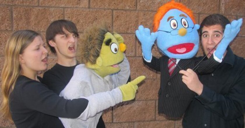 """Emmy Farese as """"Nicky"""" and Julian Coker """"Nicky (Vocal)"""" and Elliot Rappaport as """"Rod."""" Photo/Susan Farese"""