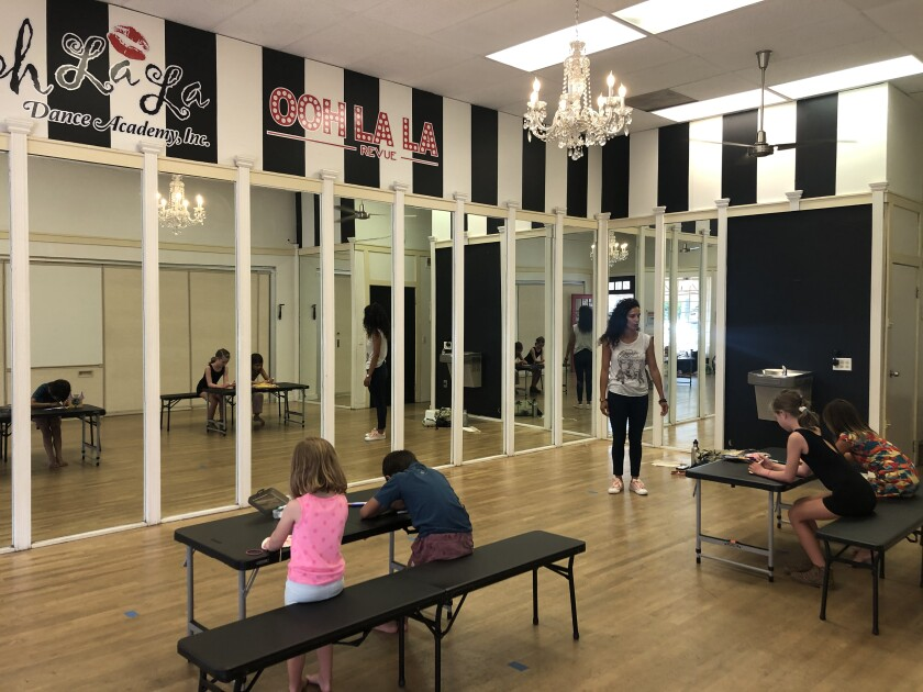 Dance academy Ooh La La is offering instruction programs for young students as an alternative to online learning at home.