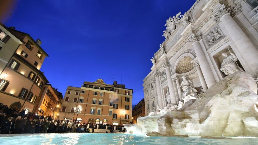 Trevi Fountain in Rome, to which Norwegian is offering a $380 round-trip fare.