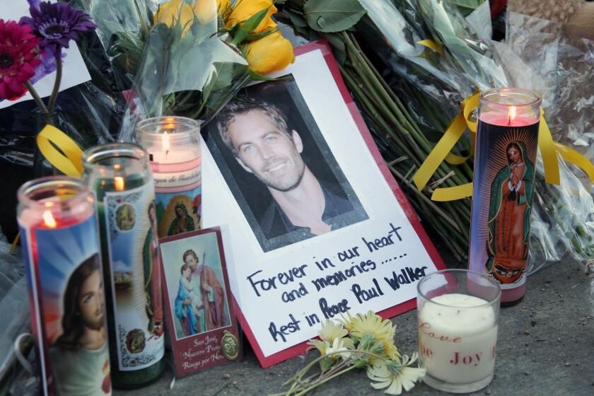 Paul Walker crash site becomes memorial