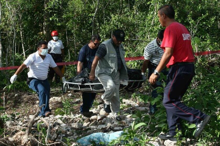 Las autoridades del estado mexicano de Quintana Roo informaron hoy el hallazgo de ocho cadáveres en diferentes puntos de la zona popular del balneario caribeño de Cancún. EFE/ARCHIVO