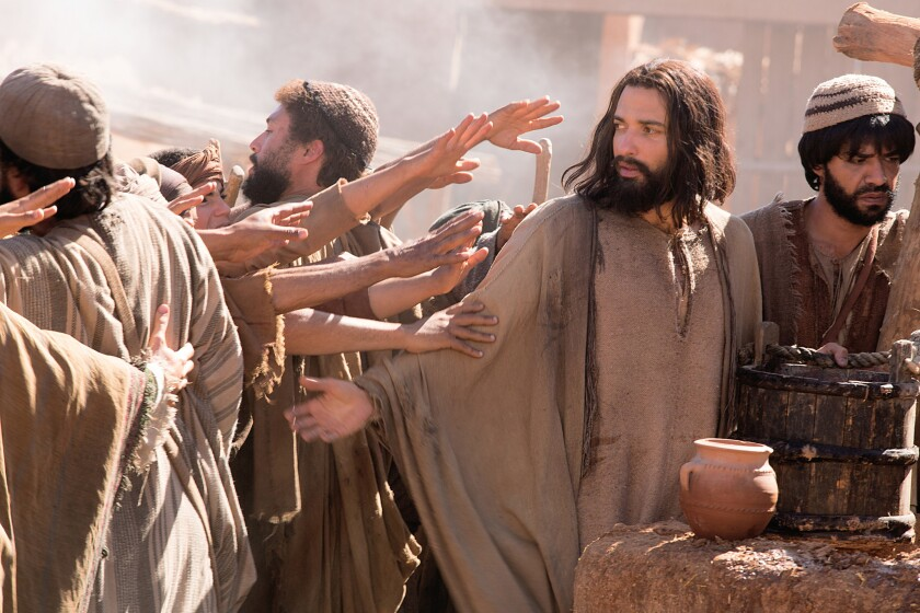 Haaz Sleiman as Jesus of Nazareth in National Geographic Channel's Killing Jesus. Credit: