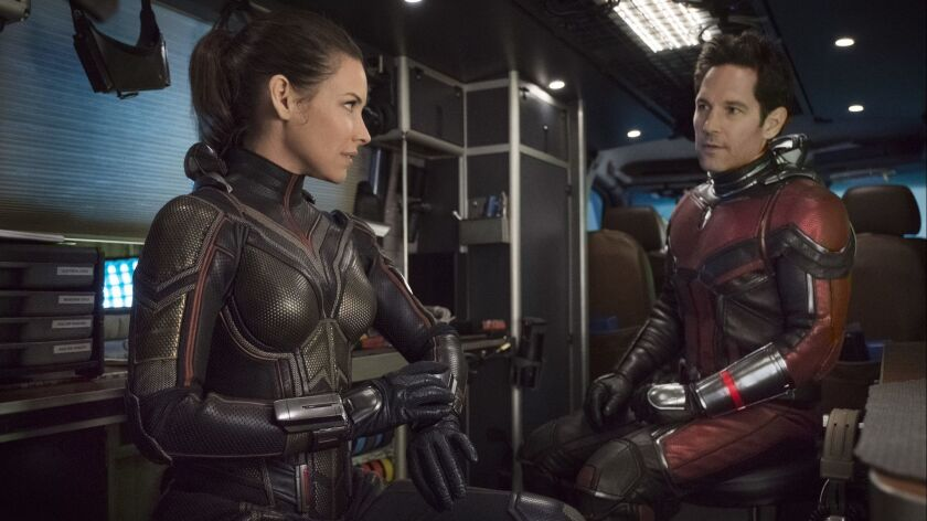 "Evangeline Lilly and Paul Rudd in ""Ant-Man and the Wasp."""