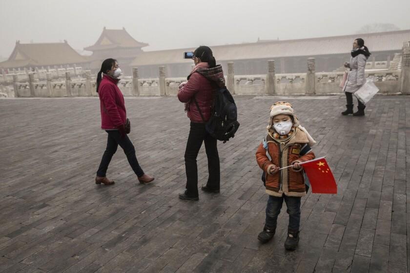 Beijing blanketed in smog